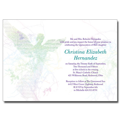 Quinceanera invitations sweet 15 invitations for quince anos angel quinceanera invitation stopboris Images