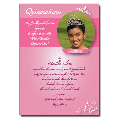 Quinceanera Invitations, Sweet 15 Invitations for Quince Anos ...