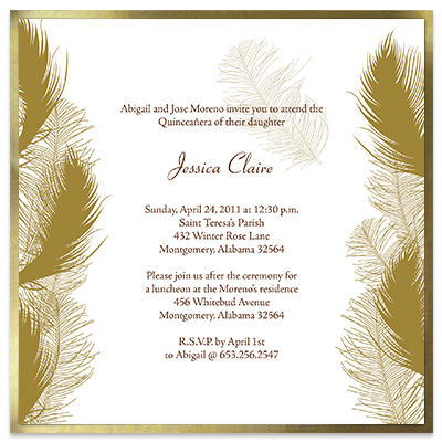 Quinceanera Invitations Sweet 15 For Quince Anos
